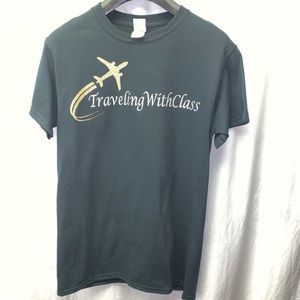 Traveling with Class Black TShirt Size Small